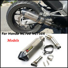 For Honda NC750 Slip on Connect Middle Pipe Exhaust Muffler Pipe with DB Killer