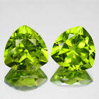 5.31 CTS 2PCS FINE QUALITY PARROT GREEN NATURAL PERIDOT FROM PAKSITAN GEMS