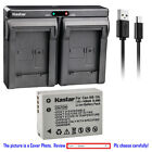 Kastar Battery Dual Charger for Canon OEM NB-10L NB-10LH & Canon Genuine CB-2LC