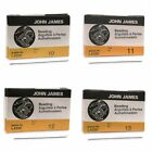John James English Beading Needles Size 10, 11, 12, 13 - (25 Beading Needles)