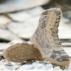 Men Tactical Boots Military Special Forced Python Camouflage Leather Boots Shoes