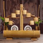 Bamboo Water Fountain Bonsai Desktop Small Fish Tank Flower Office Home Decor
