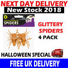 SMALL HALLOWEEN CREEPY PARTY DECORATION FAKE PLASTIC TOYS FUNNY GLITTER SPIDERS