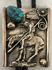 Vintage A. Andrew Henry Navajo Native American Silver Turquoise Bolo Necklace