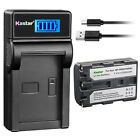 Kastar Battery LCD Charger for Sony NP-FM50 BC-VM50 & Sony DCR-PC101 DCR-PC103