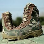 Military Tactical Ankle Boots Desert Combat Army Hiking Patrol Shoes Camouflage