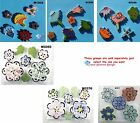 ASSORTED FLOWERS - HANDMADE, CERAMIC MOSAIC TILES ( Pick you Group ) #14