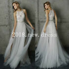 Boho Wedding Dresses 2018 Vintage Bride Dress Country Gowns Lace Tulle Custom