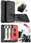 iPhone X XS Max XR Armor Hybrid Rugged Protective Magnet Ring Stand Case Cover