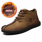Mens Casual Oxford Leather Shoes Wool Fur inside Lace Up Loafers Flats Shoes