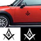 Am_ Masonic Freemason Decal Compass Square Decor Car Truck Emblem Sticker Cheerf