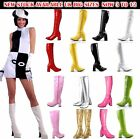 LADIES WOMENS FANCY DRESS PARTY GO GO BOOTS 60s 70s RETRO SIZE 3 4 5 6 7 8 <br/> Fancy Dress Party GO GO Boots - 60s & 70s Retro Fashion