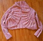 Free Poeple copped bolero sweater cardigan top pink beige heathered XS