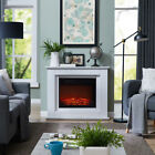Traditional Design Electric Fireplace White or Black with Remote Control New