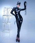 Ladies PVC Cat Woman Costume Cosplay fun wear Free Shipping