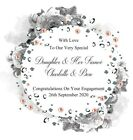 "Handmade 6"" Square Personalised Engagement Congratulations Card"