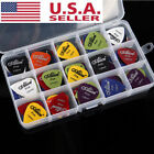 New 100pcs Music Guitar Picks Acoustic Electric Plectrums Assorted Thickness USA
