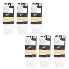Red Wing Medium Weight 3/4 Cushion Crew Arch Support Boot Socks, White 97260