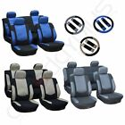 3MM Sponge Padding Car Seat Covers W/4 HeadRest/Steering Wheel Covers For Ford $28.74 USD on eBay