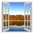 Nature In The Fall by Fake 3D Window | Ready to hang canvas | Wall art giclee