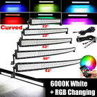 22/32/42/50/52INCH RGB Offroad LED Curved Light Bar Combo Driving & Free Wiring