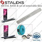 New Staleks MBE-20 Metal straight file  set of removable files 100 180 240 Grit