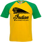 Indian Biker T-Shirt Mens baseball Motorcycles Motorbike cafe racer bike classic