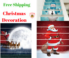 6pcs Cristmas Decorations Clearance Beautiful Stair Stickers Snowman Santa Claus