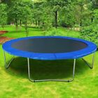 12' 13' 14' 15' Round Trampoline Safety Pad Replacement Frame Spring Blue Cover image