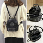 Women's Faux Leather Studded Small Backpack Rucksack Daypack Travel Bag Purse