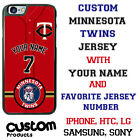 MINNESOTA TWINS PHONE CASE COVER WITH NAME&No. FITS iPHONE SAMSUNG GOOGLE etc