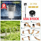 24pcs Outdoor Stainless Steel Led Solar Power Light Lawn Garden Landscape Lamp