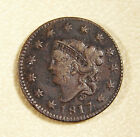 1817 Large Cent with 13 Stars F+