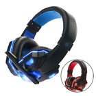 Over Ear Gaming Headphones 3.5mm Wired Earphone Stereo Bass Headset wiht HD Mic