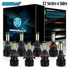 4-Side 9004/9005/9006/9007/H4/H7/H11/H13/H16/H10/9145 LED Headlight Fog Bulb Kit on eBay