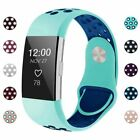 FOR Fitbit Charge 2 Watch Band Replacement Strap Silicone Wristband Size S/L IGK image
