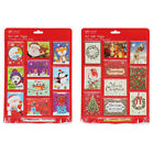 Pack of 50 Traditional Novelty Child Adult Foiled Christmas Xmas Gift Tags