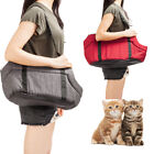 S/M Quality Hemp Pet Carrier Tote Cat Dog Comfort Travel Bag Gray /Rose Red 2