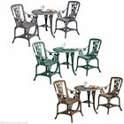 Garden Bistro Set 2 Chairs & Table Outdoor Patio Furniture 3pc Rose - Grade B