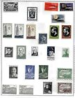 Isreal JNF 1940s-1950s  lot of 39  Different stamps 2 Tabs  M/H on 2 sided Page