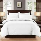 Plain Dyed Egyptian Cotton Duvet Quilt Cover Bedding Set Single Double King Size