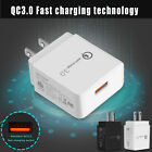 18W Fast Quick USB QC 3.0 Wall Charger Plug Samsung Galaxy Note 9 8 S9 S8+ Plus