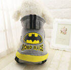 Puppy Pet Batman Costumes Hoodie Small Dog Cat Teddy Winter Jumpsuit Clothing