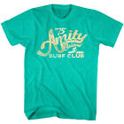 Jaws Amity Island Surf Club 1975 Vintage Mens T Shirt Ocean Surfer Green Heather