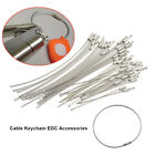 Kyпить Stainless Steel Key Rings Cable Wire Loop Luggage Tag Key Chain Ring Screw на еВаy.соm