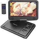 "Portable DVD Player with 12.5"" Support USB and SD Card Direct Play Swiveled 270°"