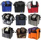KAZE SPORTS Deluxe One Ball Bowling Tote Bag Side Shoe Pocket Shoulder Strap