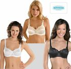 73746ab438 LADIES WOMENS SATIN BRA FIRM CONTROL UNDERWIRED BY NATURANA 87543 34-46 B-DD