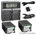 Kastar Battery LCD Dual Fast Charger for Canon BP-820 BP-828 & Canon XA11 Camera