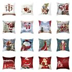 """18"""" Xmas Bed Sofa Wasit Cushion Pillow Case Cover Merry Christmas HomeDecoration"""